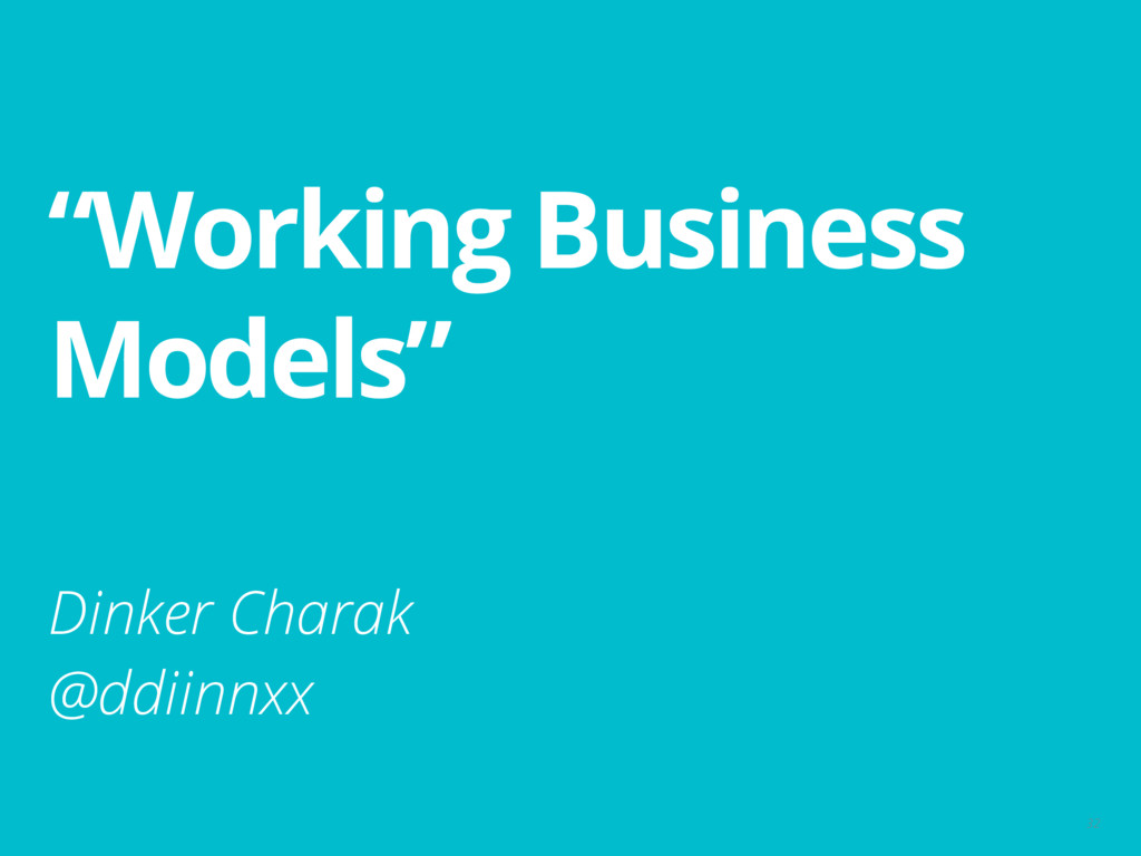 """Working Business Models"" 32 Dinker Charak @ddi..."