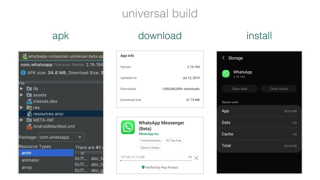 download apk install universal build