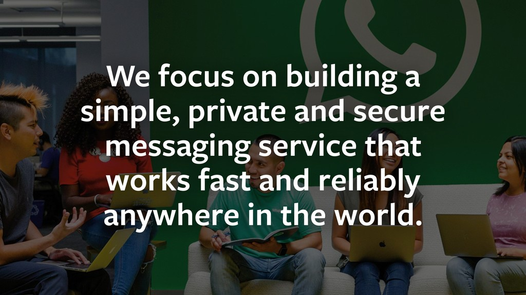 We focus on building a simple, private and secu...