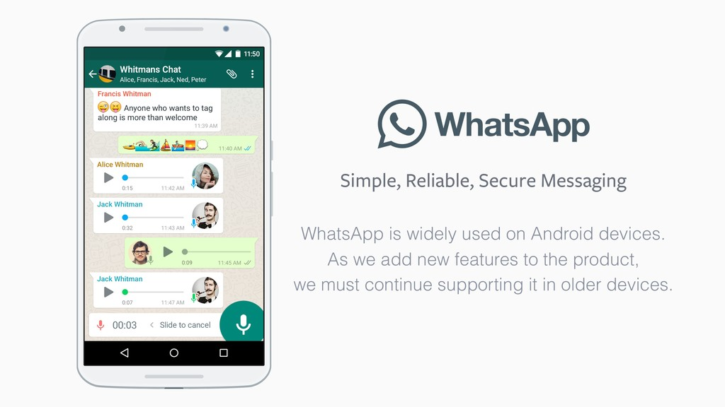 Simple, Reliable, Secure Messaging WhatsApp is ...