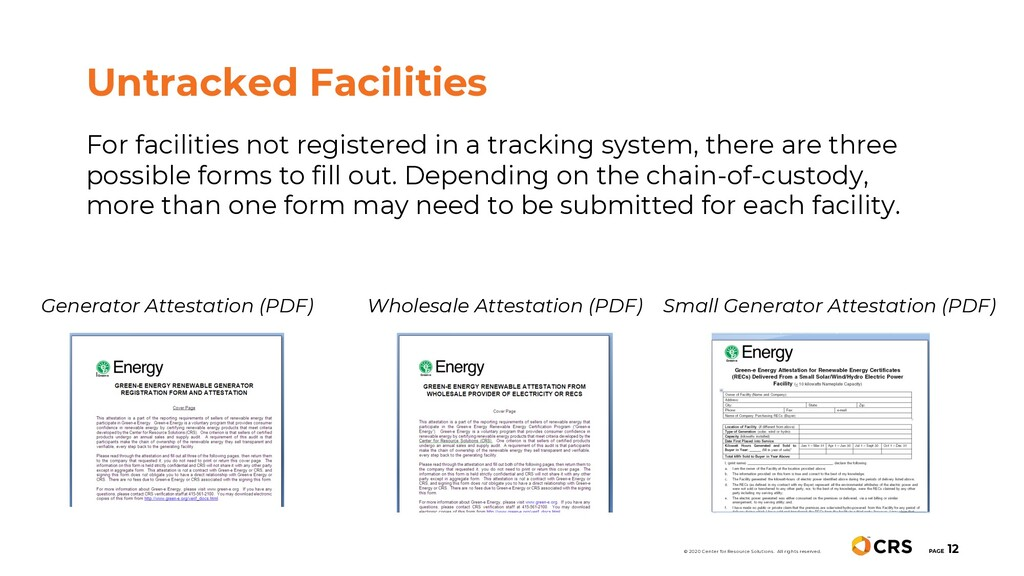 For facilities not registered in a tracking sys...
