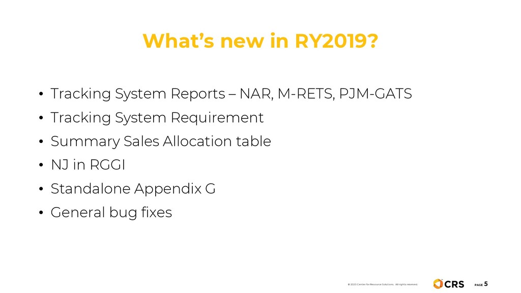 What's new in RY2019? PAGE 5 © 2020 Center for ...