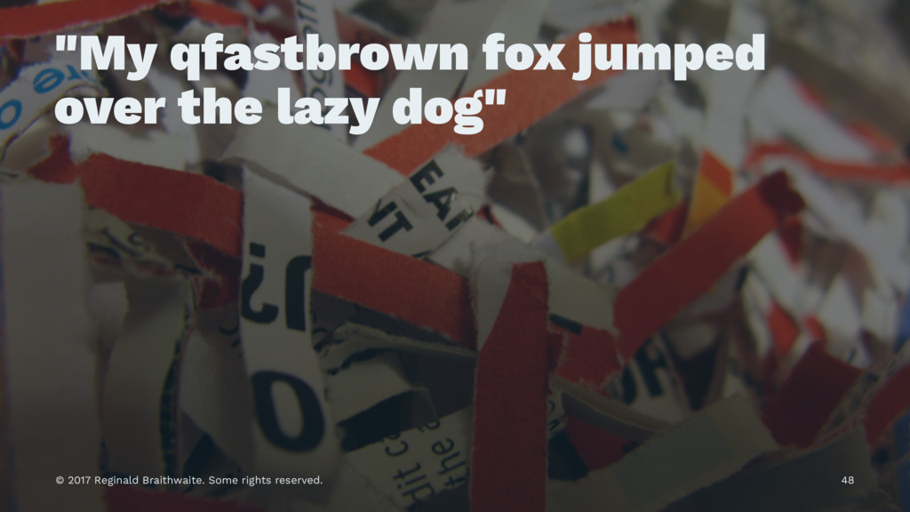 """My qfastbrown fox jumped over the lazy dog"" © ..."