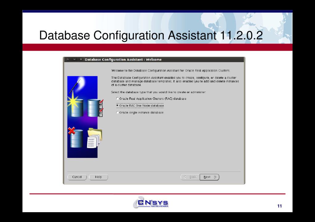 Database Configuration Assistant 11.2.0.2 11