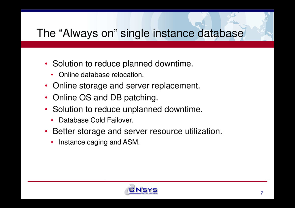 "The ""Always on"" single instance database • Solu..."