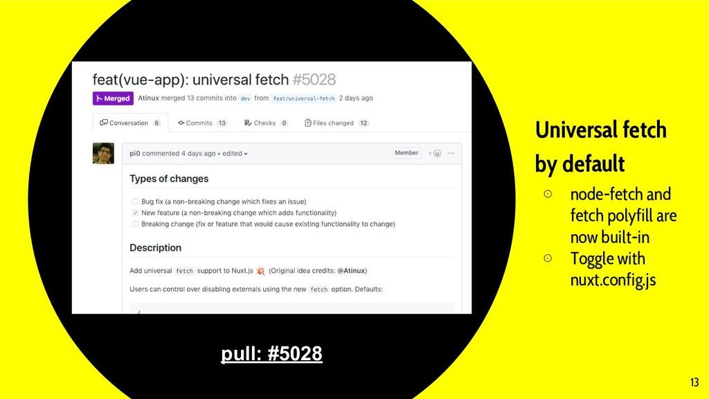 Universal fetch by default ⊙ node-fetch and fet...