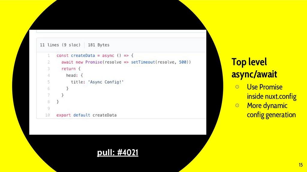 Top level async/await ⊙ Use Promise inside nuxt...