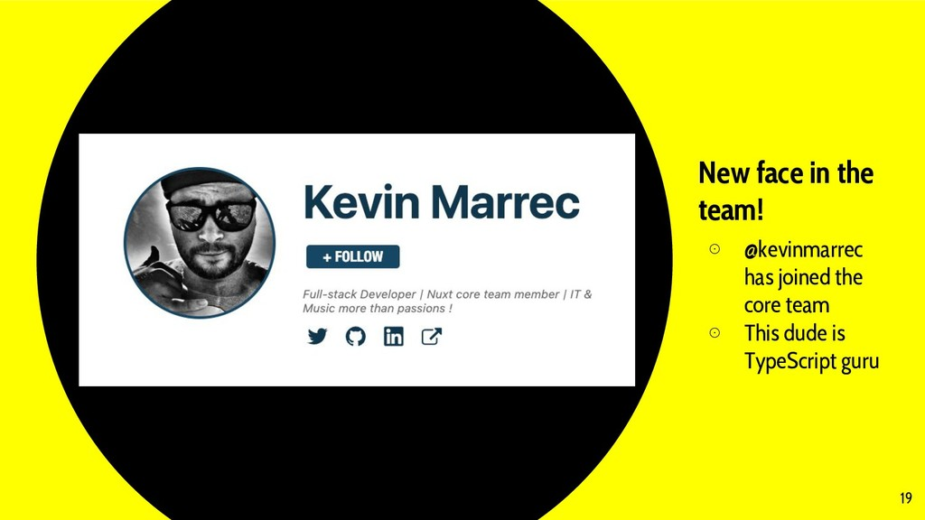 New face in the team! ⊙ @kevinmarrec has joined...