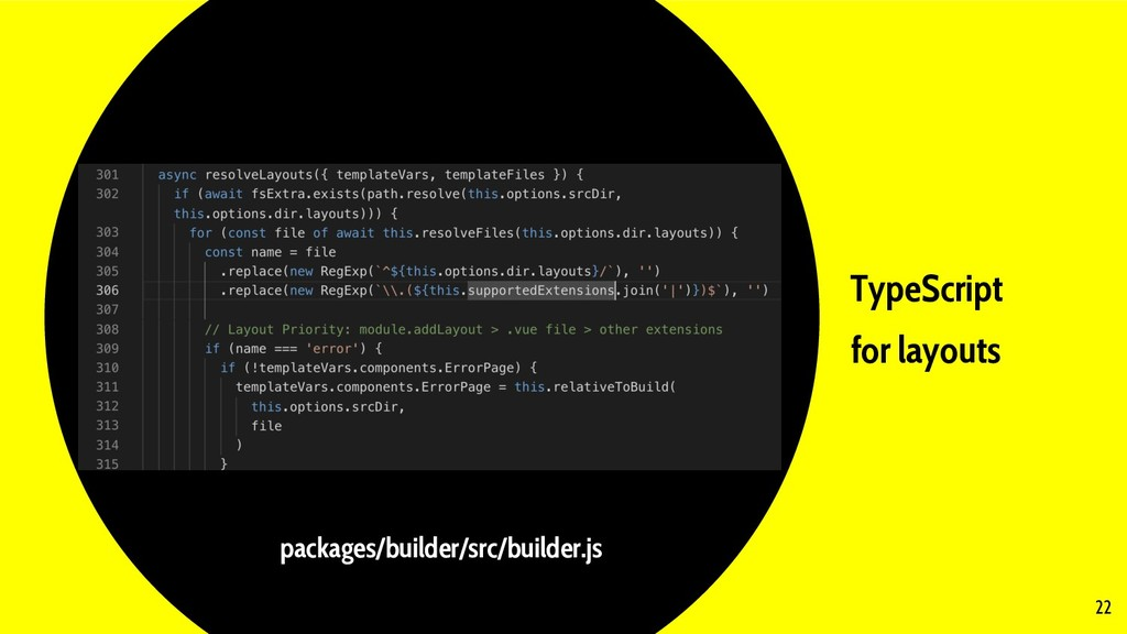 TypeScript for layouts 22 packages/builder/src/...