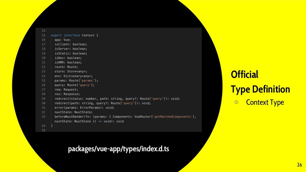 Official Type Definition ⊙ Context Type 26 pack...