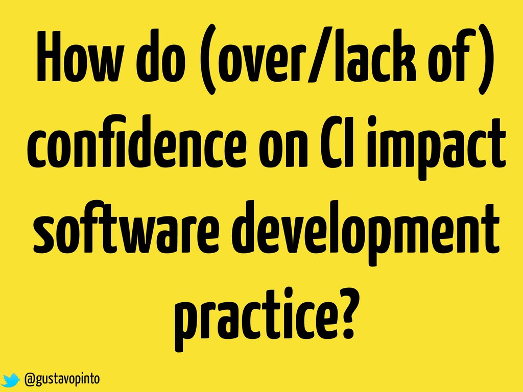 How do (over/lack of) confidence on CI impact so...