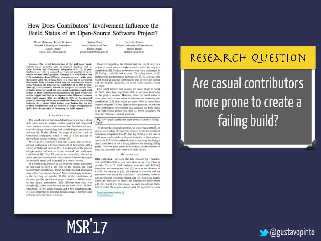 Are casual contributors more prone to create a ...