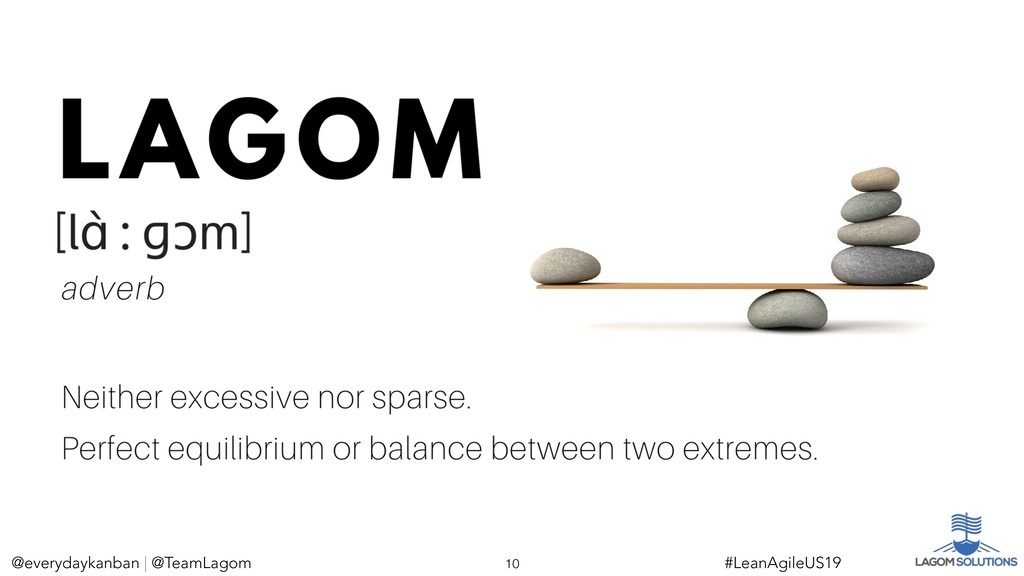 @everydaykanban | @TeamLagom !10 #LeanAgileUS19