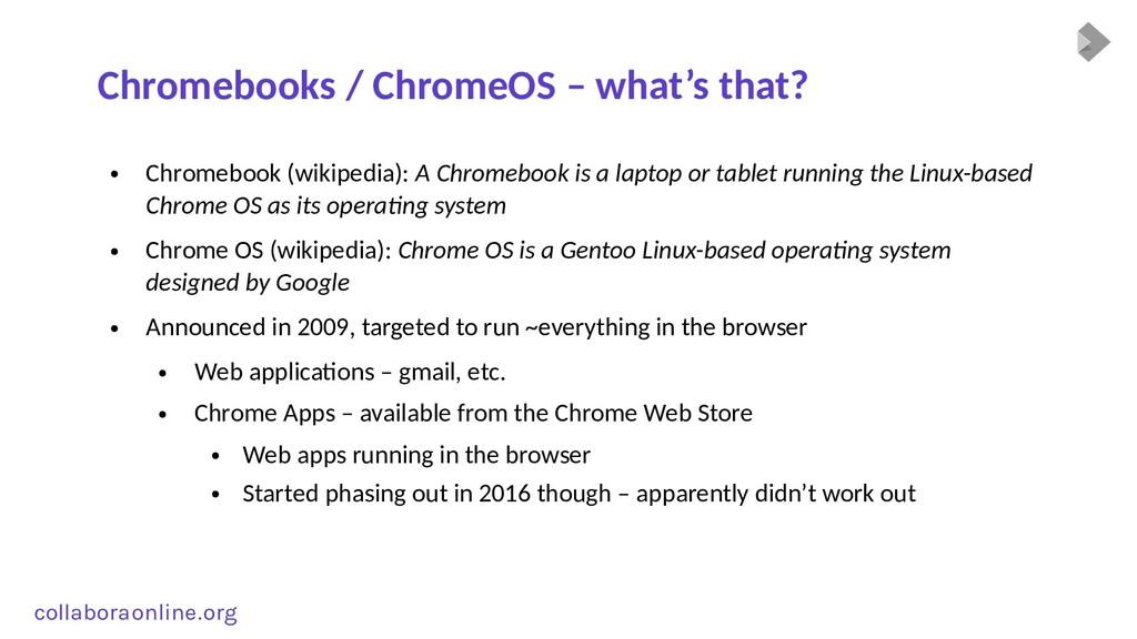 Col collabora online . org Chromebooks / Chrome...