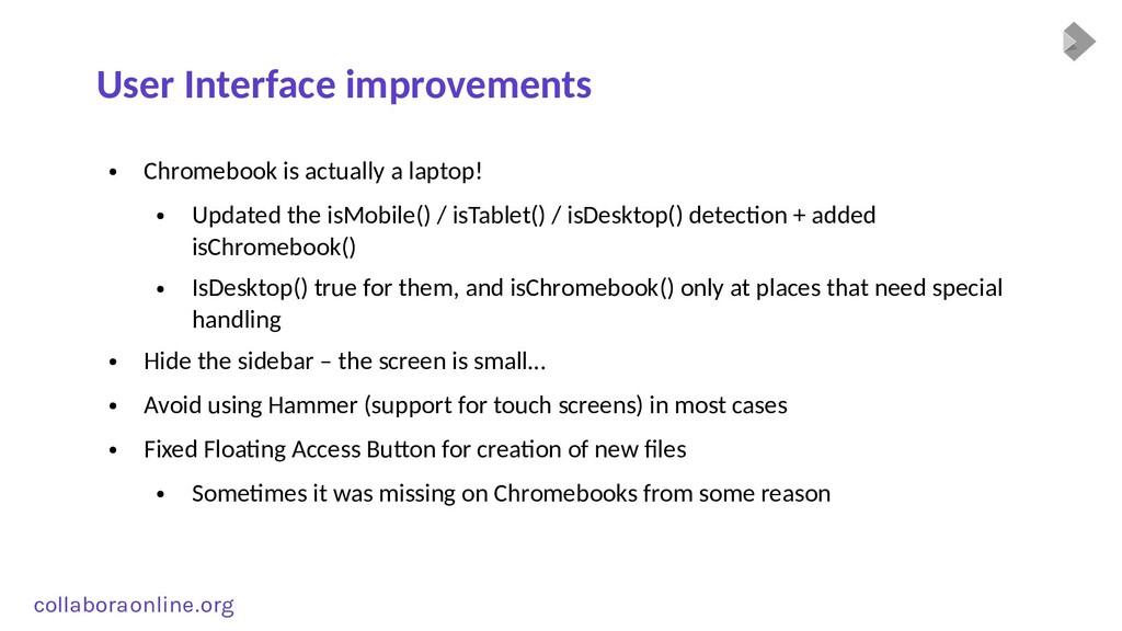 Col collabora online . org User Interface impro...
