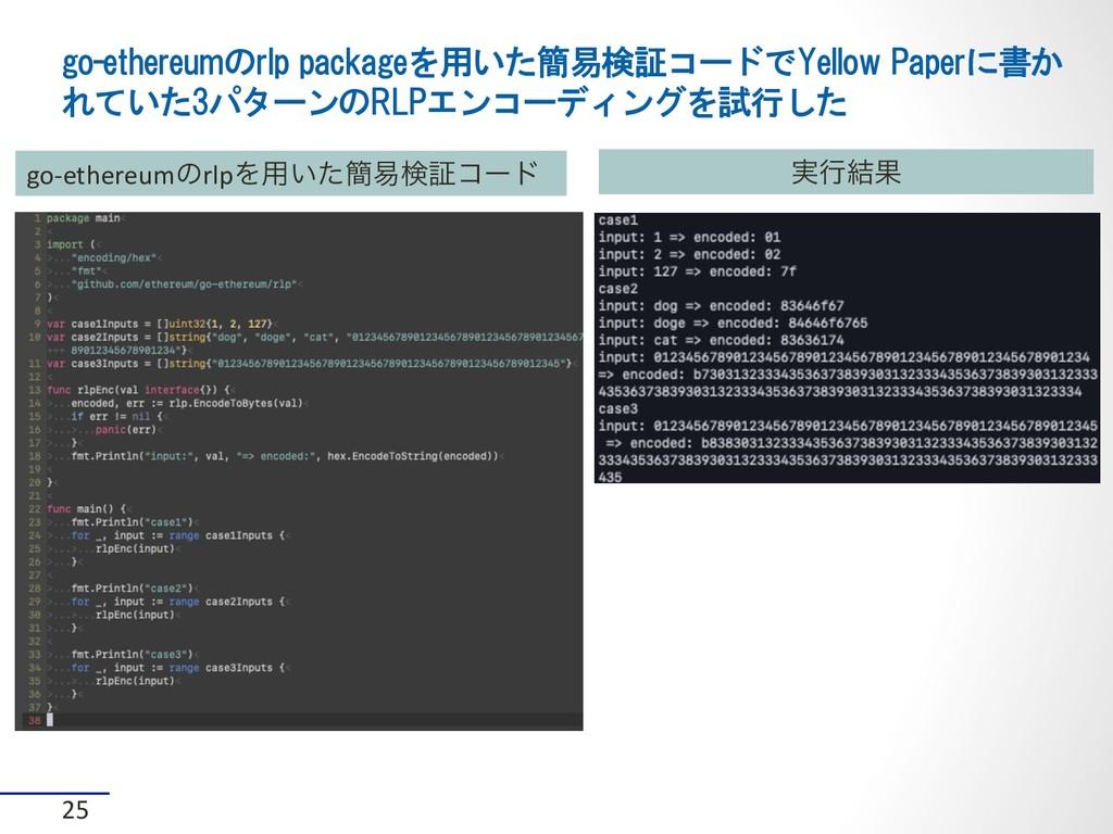 go-ethereumのrlp packageを用いた簡易検証コードでYellow Paper...