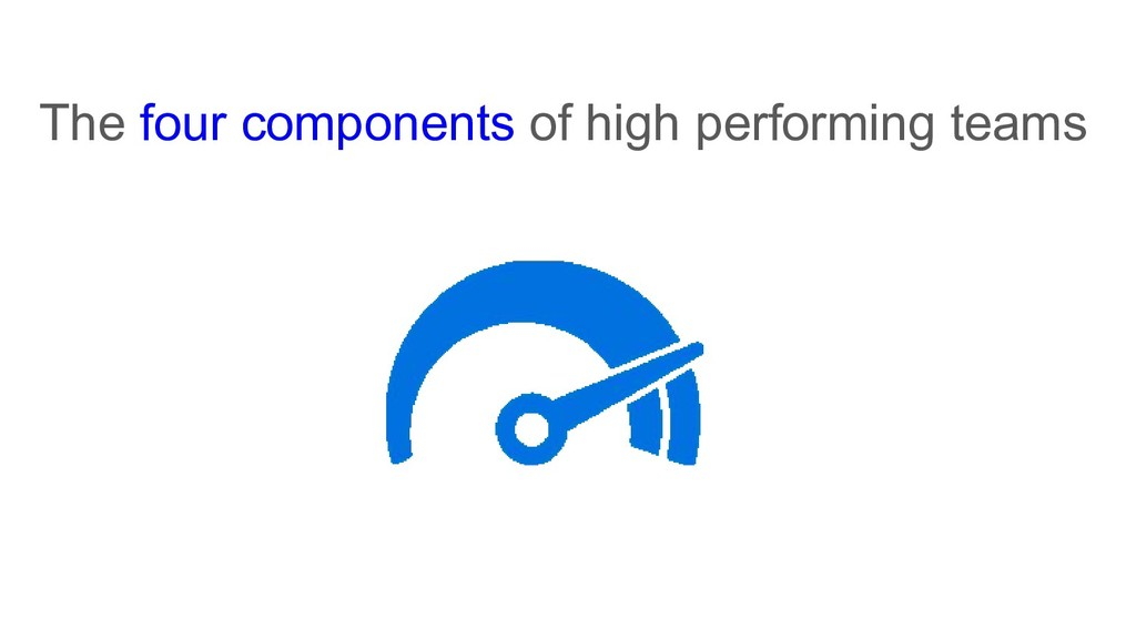 The four components of high performing teams