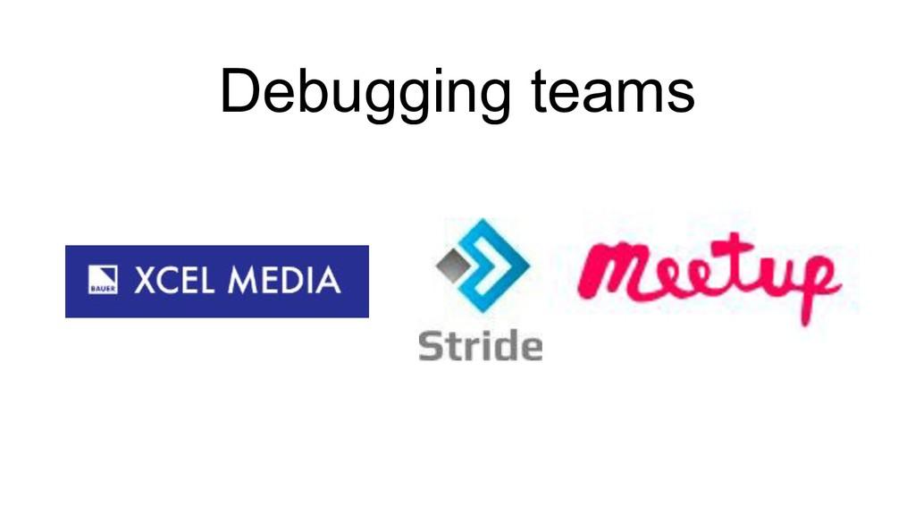 Debugging teams