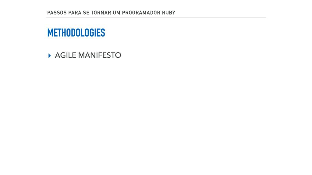METHODOLOGIES ▸ AGILE MANIFESTO PASSOS PARA SE ...