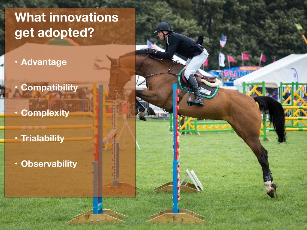 What innovations get adopted? • Advantage • Com...