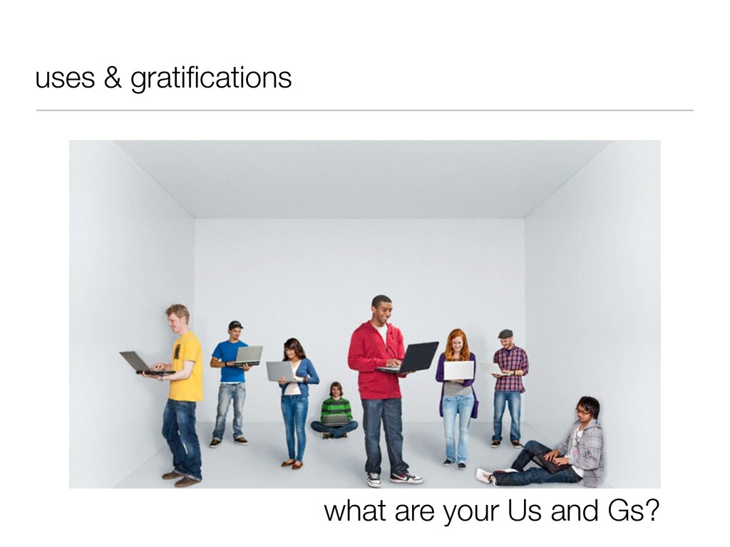 uses & gratifications what are your Us and Gs?