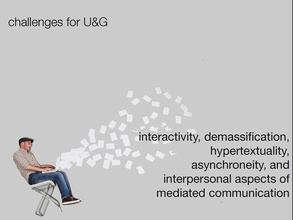 interactivity, demassification, hypertextuality,...