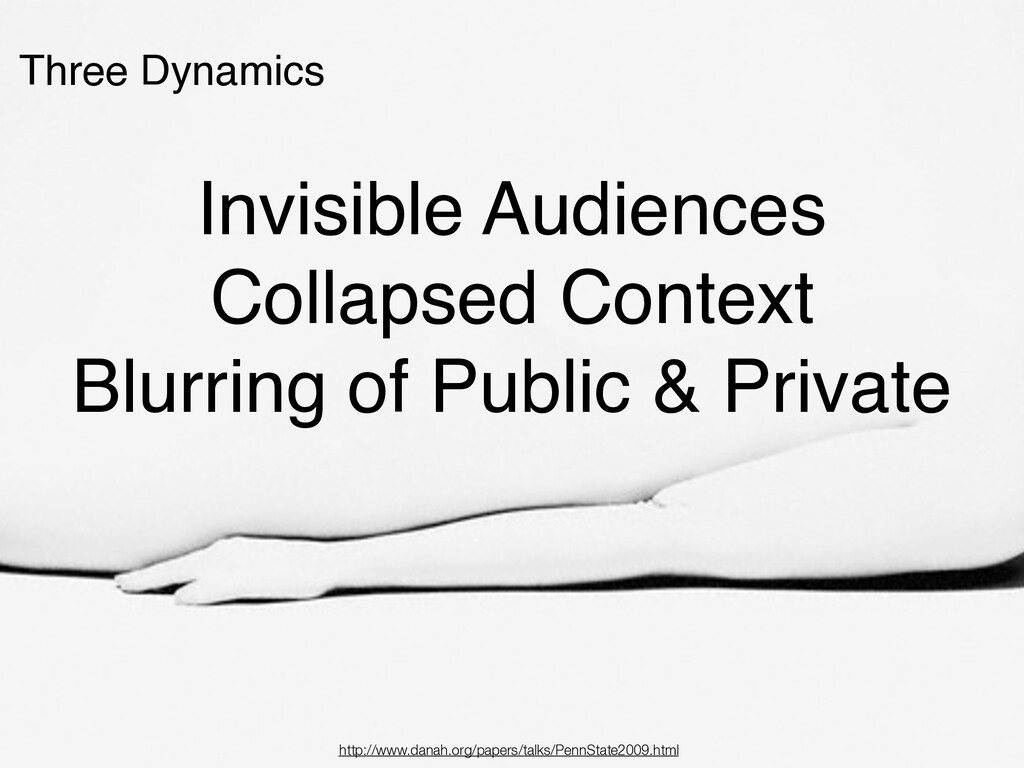 Three Dynamics Invisible Audiences Collapsed Co...