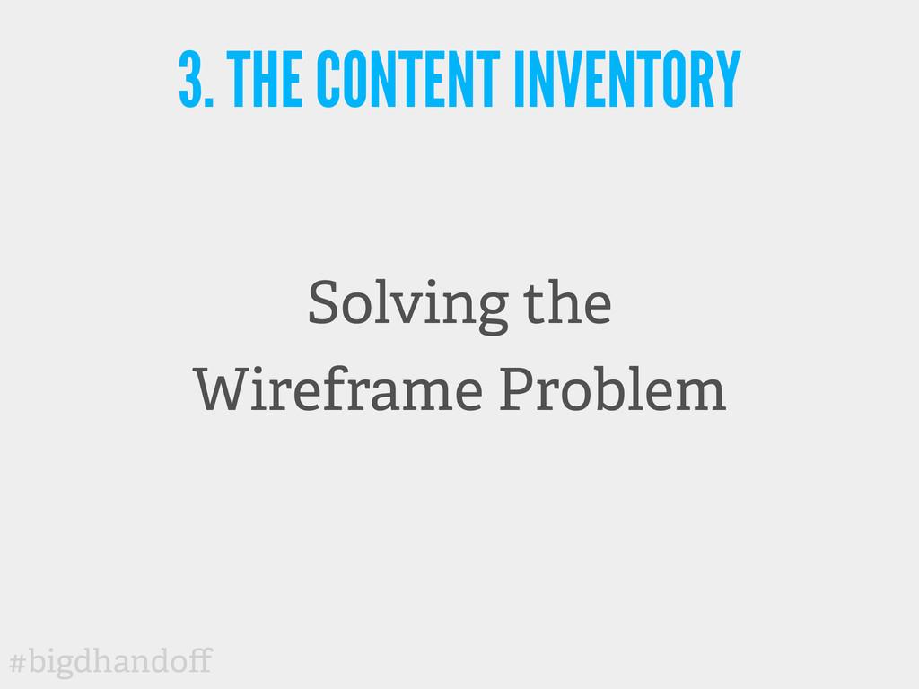 #bigdhandoff Solving the Wireframe Problem 3. TH...