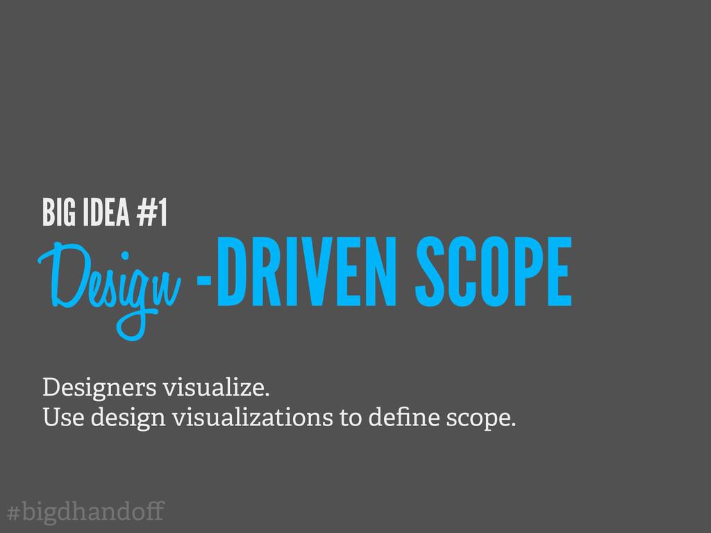 #bigdhandoff BIG IDEA #1 Design -DRIVEN SCOPE De...