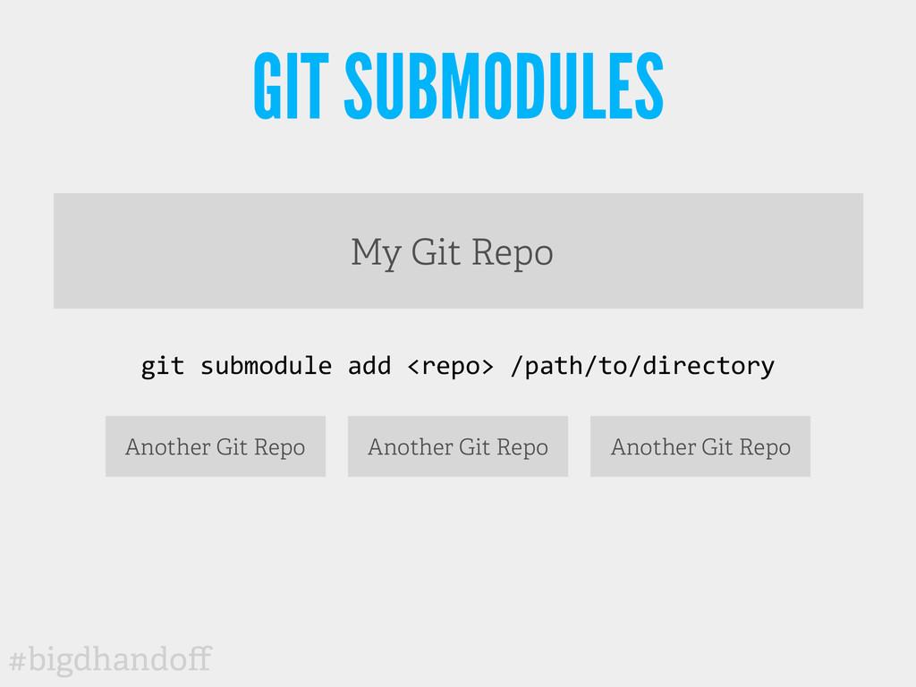 #bigdhandoff GIT SUBMODULES My Git Repo git s...