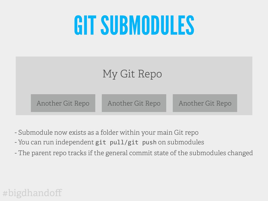 #bigdhandoff GIT SUBMODULES My Git Repo Another ...