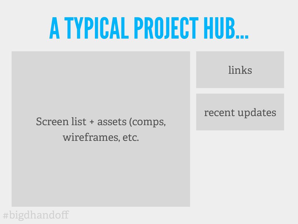 #bigdhandoff Screen list + assets (comps, wirefr...