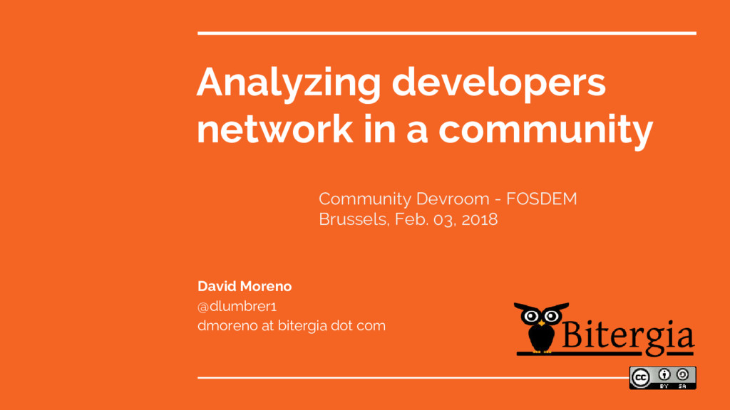 Analyzing developers network in a community Dav...