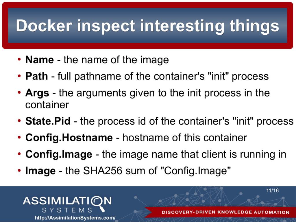 http://AssimilationSystems.com/ 11/16 Docker in...