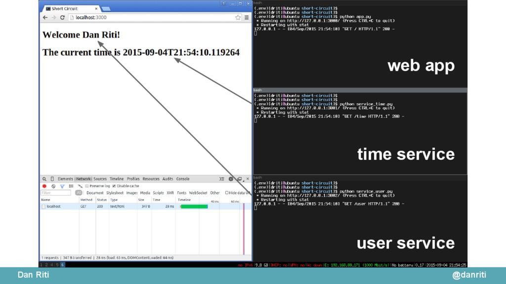 @danriti Dan Riti web app time service user ser...