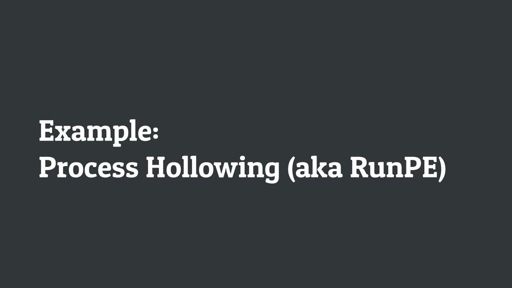 Example: Process Hollowing (aka RunPE)