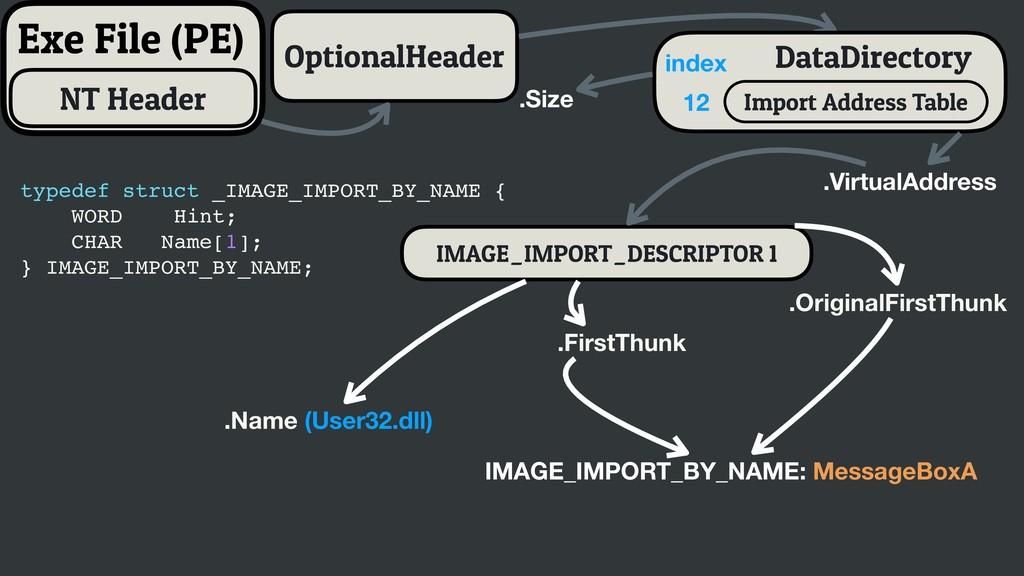 IMAGE_IMPORT_DESCRIPTOR 1 Exe File (PE) Optiona...