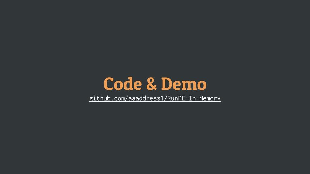 Code & Demo github.com/aaaddress1/RunPE-In-Memo...