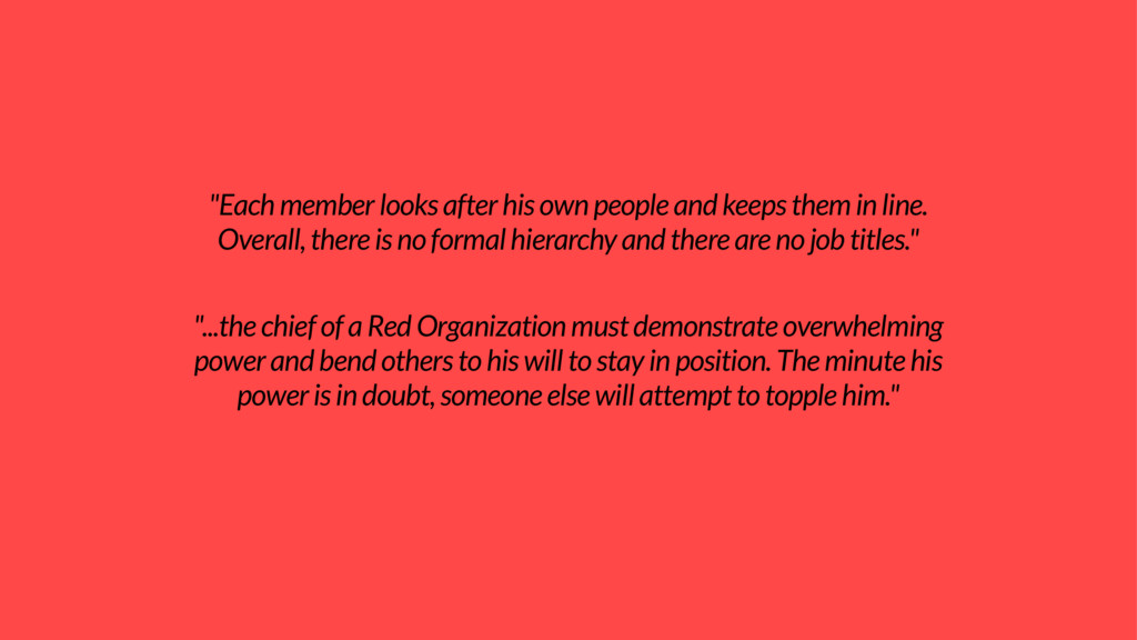 """Each member looks after his own people and kee..."