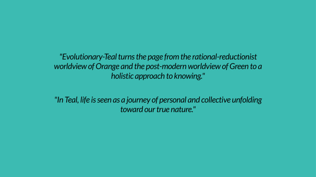 """Evolutionary-Teal turns the page from the rati..."
