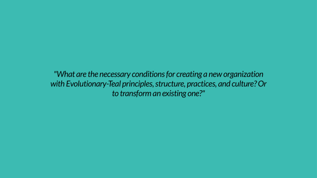 """What are the necessary conditions for creating..."