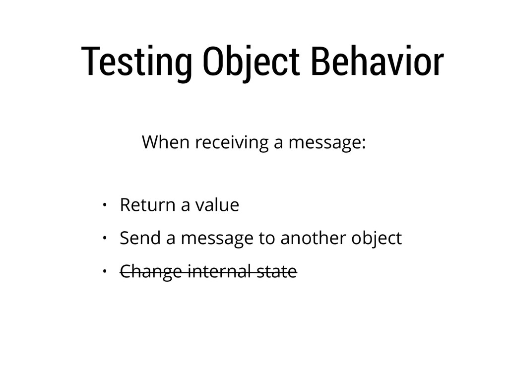 Testing Object Behavior When receiving a messag...