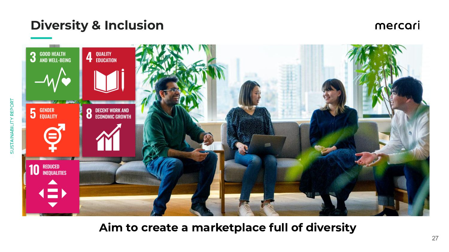 Aim to create a marketplace full of diversit...