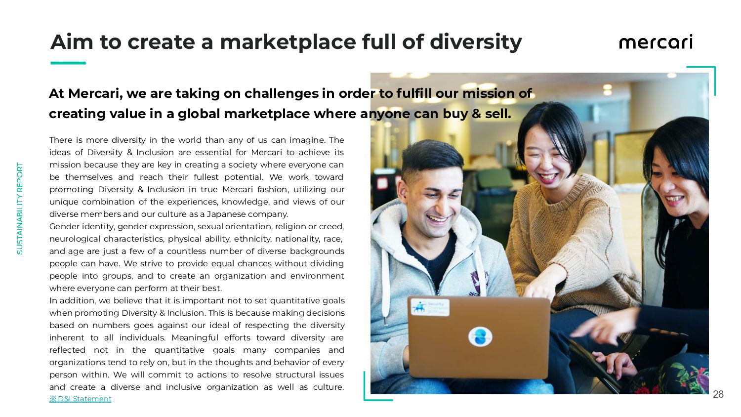 28 Aim to create a marketplace full of diver...