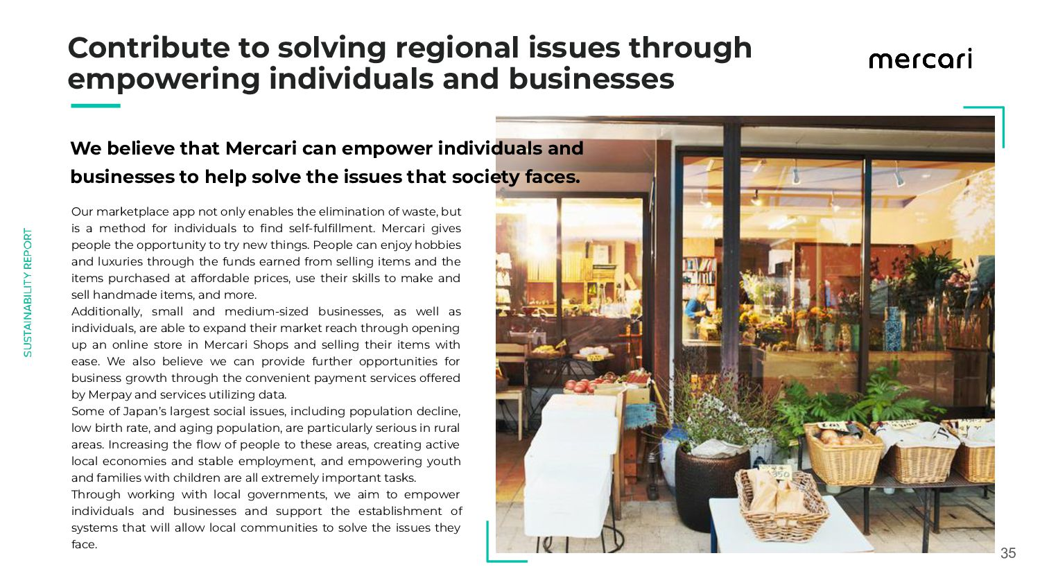 35 Contribute to solving regional issues thr...