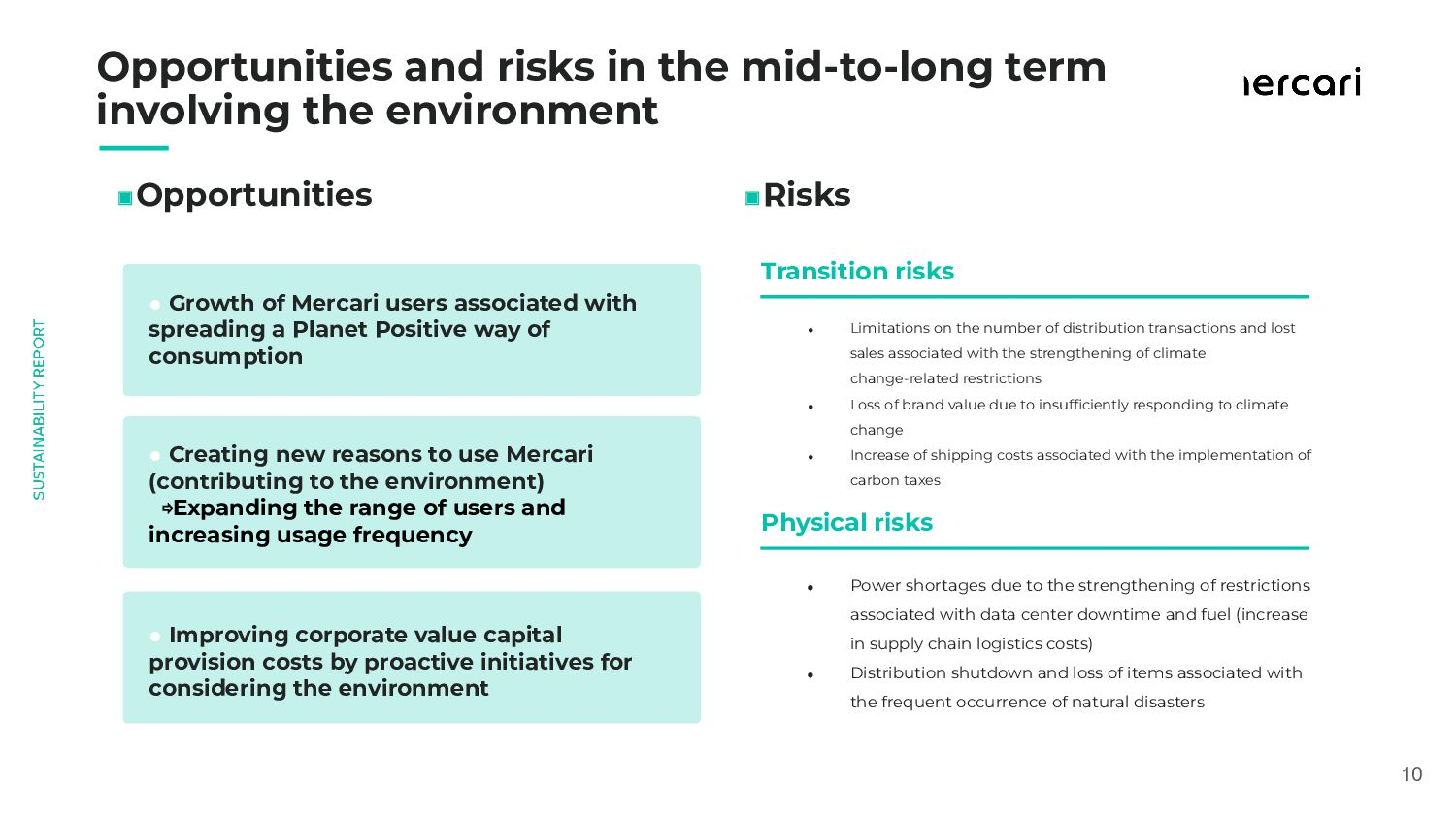 Opportunities and risks in the mid-to-long t...