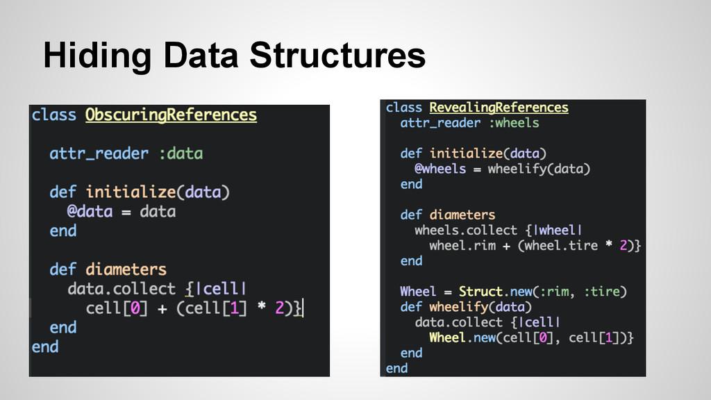 Hiding Data Structures