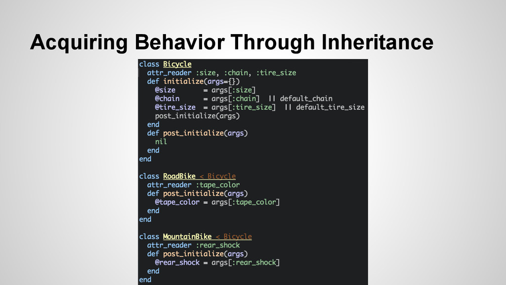 Acquiring Behavior Through Inheritance