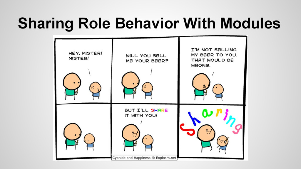 Sharing Role Behavior With Modules