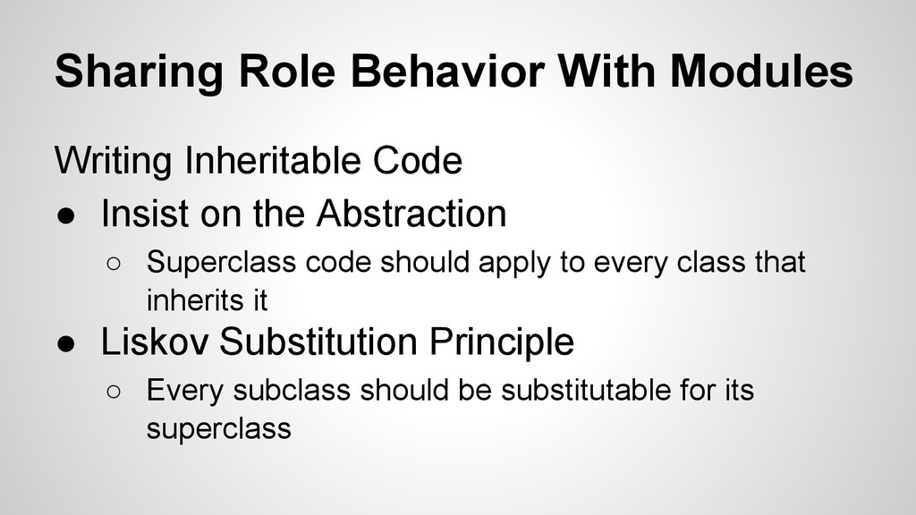 Sharing Role Behavior With Modules Writing Inhe...